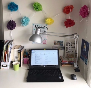 Tiny desk.